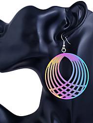 abordables -Mujer Pendientes cortos / Pendientes colgantes - Acero inoxidable Personalizado, Moda Azul Para Casual / Noche