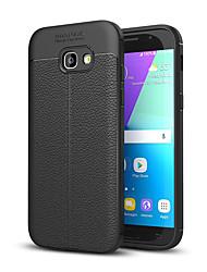 preiswerte -Hülle Für Samsung Galaxy A5(2017) A3(2017) Stoßresistent Rückseite Volltonfarbe Weich Silikon für A3 (2017) A5 (2017)