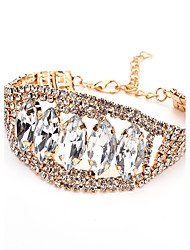 cheap -Women's Bangles Crystal Rhinestone Metallic Bling Bling Crystal Alloy Leaf Jewelry For Casual Formal