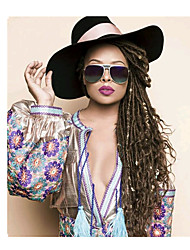 Dread Locks Hair Braid Curly Ombre Braiding Hair Dreadlock Extensions Faux Dreads Crochet Faux Dreads 100% Kanekalon Hair Black/Burgundy