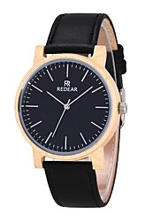 Men's Women's Fashion Watch Wood Watch Japanese Quartz Wooden Genuine Leather Band Charm Casual Black