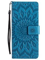 Недорогие -Кейс для Назначение Sony Z5 / Sony Z4 / Sony Xperia Z3 Кошелек / Бумажник для карт / со стендом Чехол Цветы Твердый Кожа PU для Sony Xperia Z2 / Sony Xperia Z3 / Sony Xperia Z3 Compact