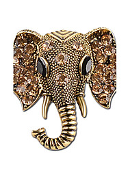 cheap -Men's / Women's Elephant Rhinestone Rhinestone / Silver Plated Brooches - Personalized / Animal Design Gold / Silver Brooch For Gift /