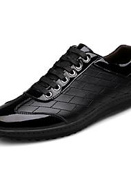 economico -Da uomo Scarpe Pelle Nappa Vernice Primavera Autunno Comoda Scarpe da immersione Sneakers Lacci Per Casual Nero