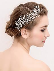 cheap -Pearl Crystal Flowers Head Chain Hair Tool Headpiece Elegant Style