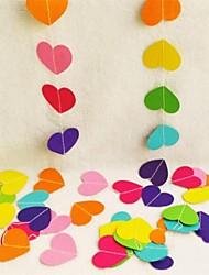 Недорогие -1m красочные сердца бумага свадебные баннеры украшение гирлянда ручной работы настенные украшения