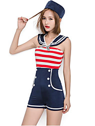 cheap -Student / School Uniform Cosplay Costume Christmas Halloween Carnival Oktoberfest New Year Festival / Holiday Halloween Costumes Blue