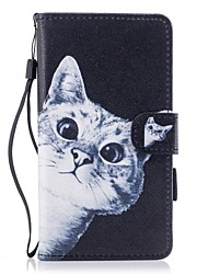cheap -Case For Huawei P10 Lite Wallet Card Holder with Stand Flip Pattern Magnetic Full Body Cat Hard PU Leather for Huawei P10 Lite Huawei P8
