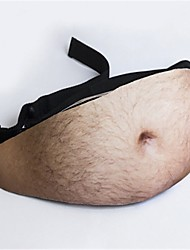 Halloween Prop Dad Bod Waist Bags Flesh Color Fanny Packs Money Belt Beer Fat Belly Bum Pouch Pockets Bag