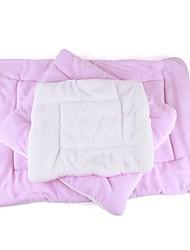 Недорогие -Кошка Собака Кровати Животные Коврики и подушки Однотонный Сохраняет тепло Складной Мягкий Синий Розовый