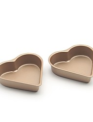 cheap -2 Piece Cake Molds Heart-Shaped Everyday Use Wrought Iron Baking Tool