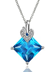 Women's Pendant Necklaces Crystal AAA Cubic Zirconia Geometric Crystal Gold Plated Geometric Fashion Jewelry For Wedding Stage