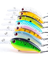 "7 pcs Fishing Lures Hard Bait Crank g/Ounce,100 mm/4"" inch,ABS Plastic Sea Fishing Bait Casting Spinning Jigging Fishing Freshwater"