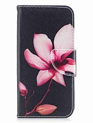 Недорогие -Кейс для Назначение Apple iPhone X / iPhone 8 Кошелек / Бумажник для карт / со стендом Чехол Цветы Твердый Кожа PU для iPhone X / iPhone 8 Pluss / iPhone 8