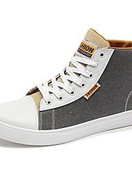 Masculino sapatos Jeans Primavera Verão Conforto Tênis Cadarço Para Casual Preto Cinzento Azul