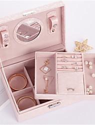 Органайзеры для украшений Хранение косметики Ящик для хранения ювелирных изделий с Особенность является Для Общего назначения