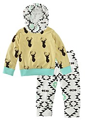 Baby Boy's Indoor Outdoor Casual/Daily Print Animal Print Clothing Set,Animal Print Spring/Fall Winter