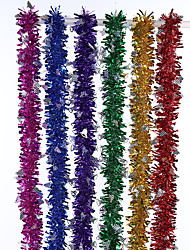 cheap -10Pcs/Set    2M Long  Colorful Bar Christmas Tree Omament Garland Decoration Party Supplies Wedding Holiday Decorations