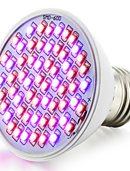 cheap -360-430 lm E26/E27 Growing Light Bulbs 60 leds SMD 3528 Waterproof Red Blue AC 85-265V