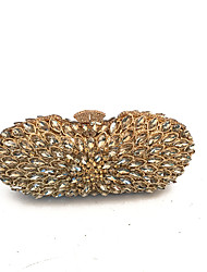 Women Bags Metal Evening Bag Crystal Detailing for Wedding Event/Party Spring Fall Gold