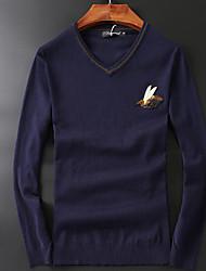 Standard Cashmere Da uomo-Casual Con stampe A V Manica lunga Altro Autunno Medio spessore Media elasticità