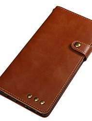 preiswerte -Hülle Für Samsung Galaxy Note 8 Kreditkartenfächer Geldbeutel Flipbare Hülle Magnetisch Ganzkörper-Gehäuse Volltonfarbe Hart Echtleder für