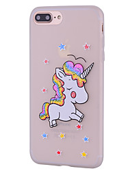 economico -Per iPhone 7 iPhone 7 Plus Custodie cover Fantasia/disegno Custodia posteriore Custodia Unicorno Morbido Silicone per Apple iPhone 7 Plus