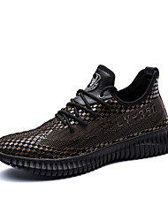 Men's Shoes Customized Materials Fall Comfort Light Soles Sneakers Lace-up For Casual Outdoor Black/Gold Black