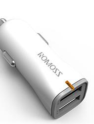 abordables -Carga Rápida Bluetooth inalámbrico 2 Puertos USB Solo Cargador DC 5V/2.4A