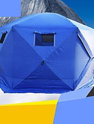 5-8 Pessoas Tenda Único Barraca de acampamento Um Quarto Barracas para Acampamento Família A Prova de Vento Zíper á Prova-de-Água para