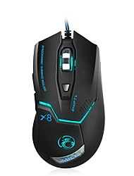 abordables -Usb Wired Gamer Mouse 3200/2400/1200 dpi optique led 7 boutons usb wired gaming mouse pour pc jeu