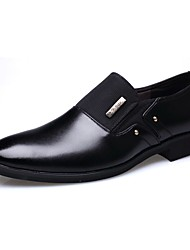 cheap -Men's Loafers & Slip-Ons Comfort Spring Summer Fall Winter Leather Casual Office & Career Low Heel Brown Black Under 1in