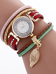 cheap -Women's Fashion Watch Bracelet Watch Unique Creative Watch Chinese Quartz PU Band Bohemian Charm Elegant Casual Black White Blue Red