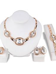 cheap -Women's Necklace Bracelet Crystal Rhinestone Luxury Fashion Wedding Party Crystal Rhinestone Irregular Necklace Earrings Bracelets Ring