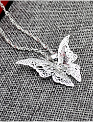 cheap -Women's Butterfly Pendant Necklace  -  Animal Design Silver Necklace For Wedding Birthday