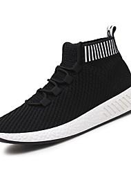 Da uomo Sneakers Comoda Autunno Inverno Finta pelle Casual Lacci Piatto Grigio Bianco/nero Nero/Rosso Piatto