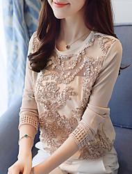 abordables -Tee-shirt Femme, Couleur Pleine Travail Décontracté
