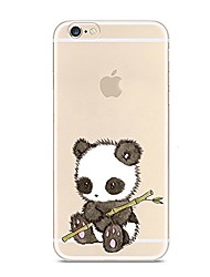 cheap -For iPhone 7 iPhone 7 Plus Case Cover Ultra-thin Transparent Pattern Back Cover Case Animal Panda Soft TPU for Apple iPhone 7 Plus iPhone