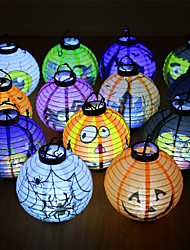 Halloween X'Mas Led Paper Hanging Lantern Diy Scary Party 21*34cm