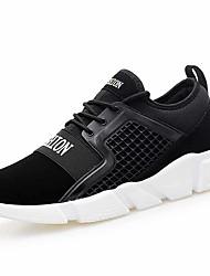 baratos -Homens sapatos Courino / Tule Primavera / Outono Conforto Tênis Branco / Preto / Black / azul