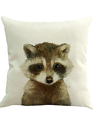 1 pcs raton laveur animal impression coussin couverture nouveauté taie d'oreiller carrée taie d'oreiller