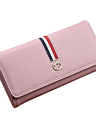 Women Bags All Seasons PU Coin Purse Sashes/ Ribbons for Shopping Casual Blue Black Blushing Pink Gray