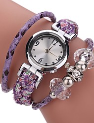 Недорогие -Жен. Имитационная Четырехугольник Часы Модные часы Часы-браслет Китайский Кварцевый Материал Группа Кулоны На каждый день Богемные Elegant