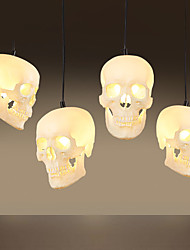 cheap -Halloween Skull Pendant Lamp 1 PCS Lamp Retro Art Creative Personality Restaurant Bar Clothing Store Lighting Lamps And Lanterns Of Northern Europe