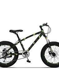Bicicleta De Montanha Ciclismo 7 Velocidade 20 polegadas TX30 Freio a Disco Duplo Suspensão Garfo Comum Anti-Escorregar Aluminum Alloy