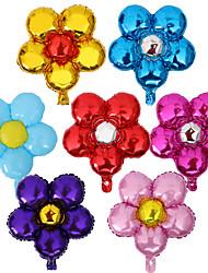 10Pcs/Set Five Flowers Aluminum Foil Balloons 58X50Cm Color Random