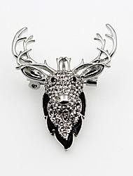 Недорогие -Жен. Синтетический алмаз Броши Дамы Классика Мода Брошь Бижутерия Серебряный с черным Назначение Рождество Для сцены