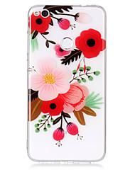 economico -cassa per huawei p8 lite (2017) p10 lite telefono caso tpu materiale fiore modello hd cassa telefono p9 lite