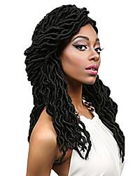 "cheap -Dread Locks Hair Braid Crochet Curly Ombre Braiding Hair 100% Kanekalon Hair Auburn Burgundy Blonde Medium Auburn Strawberry Blonde 18"" 1"