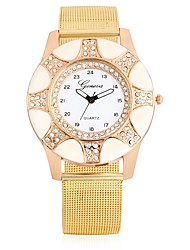 cheap -Women's Fashion Watch Wrist watch Chinese Quartz Large Dial Leather Band Casual Cool Pink Beige Navy